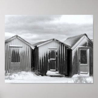 Poster - small huts