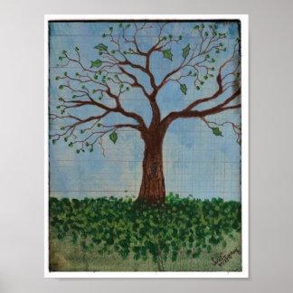 POSTER: Springtime Tree Poster