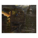 POSTER ~ Stormy Night Train ~ Stoking The Flames
