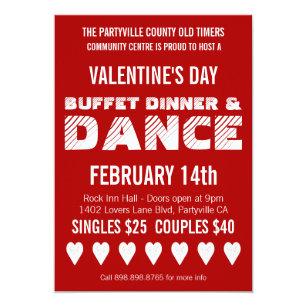 Valentines Day Dance Invitations Announcements Zazzle Ca