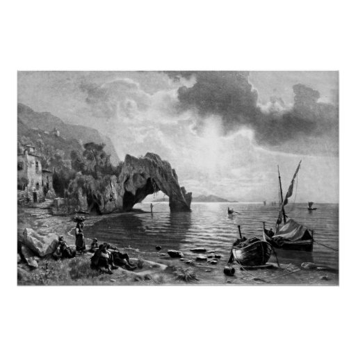 Poster ~ Sunset at Capri ~ Photogravure
