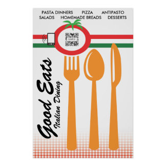 Poster Template Casual Dining Italian