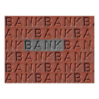 Poster.The Word Bank In Brick. Poster