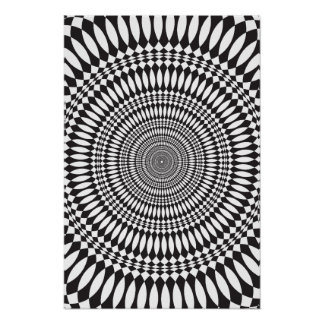 Poster: Vertigo: Black & White Abstract Poster