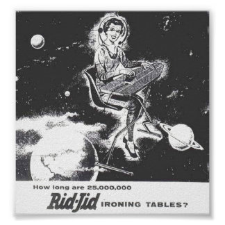 Poster - Vintage 1940  Ad ~ Rid-Jid Ironing Table