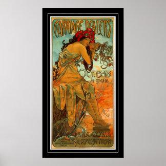 Poster Vintage Art Alphonse Mucha
