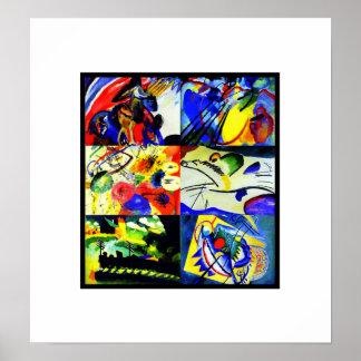 Poster Vintage Art Kandinsky Collage