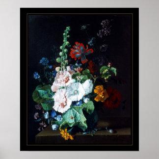 Poster Vintage Art Still Life Flowers