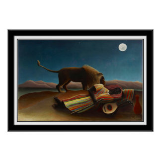 Poster Vintage Art The Sleeping Gypsy 1897
