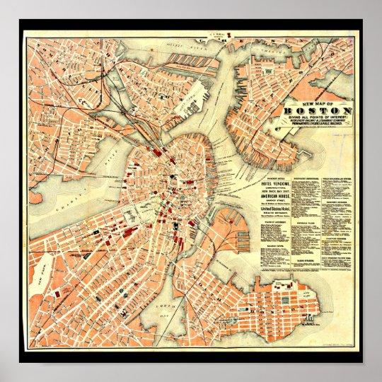 Poster-Vintage Boston Maps-22 Poster