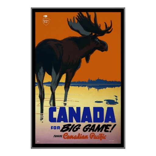 Poster Vintage Canada Travel