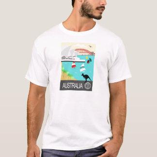 Poster vintage de l'Australie T-shirt