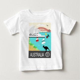 Poster vintage de l'Australie T-shirt Pour Bébé