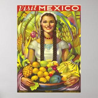 Poster vintage du Mexique
