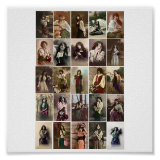 Poster-Vintage-Gypsy Women Poster