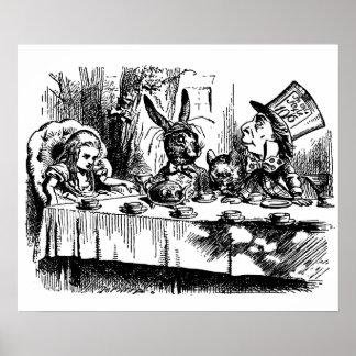 Poster Vintage illustration Alice in Wonderland