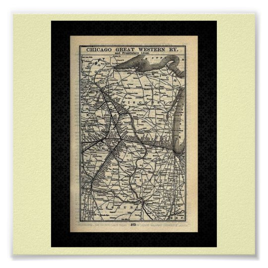 Poster-Vintage Maps-Great Western Railway Poster