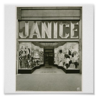 Poster-Vintage-New York Janice Store Poster