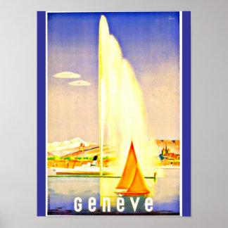 Poster-Vintage Travel Art-Geneva Poster