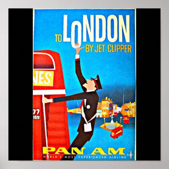 Poster-Vintage Travel Art-London Poster