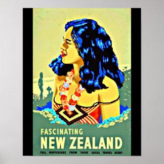 Poster-Vintage Travel Art-New Zealand Poster