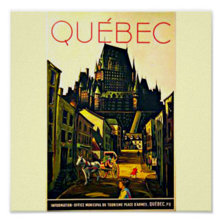 Poster-Vintage Travel Art-Quebec Poster