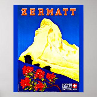 Poster-Vintage Travel Art-Zermatt Poster