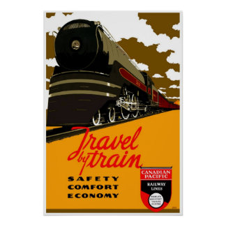 Vintage train posters zazzle canada for Vintage train posters