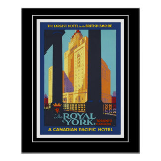 Poster Vintage Travel Poster Royal York Canada