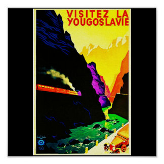 Poster-Vintage Travel-Yugoslavia Poster
