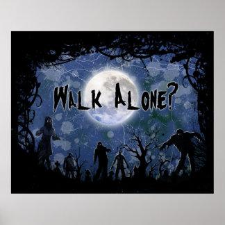 Poster Walk Alone Halloween