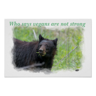 Poster - Who says vegans are not strong