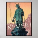 Poster with American WWII Propaganda