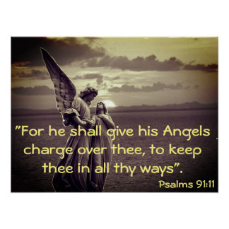 Poster with Angel and Bible verse