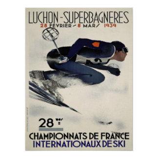 Poster with Cool Ski Poster from France