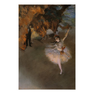 Poster With Edgar Degas Painting