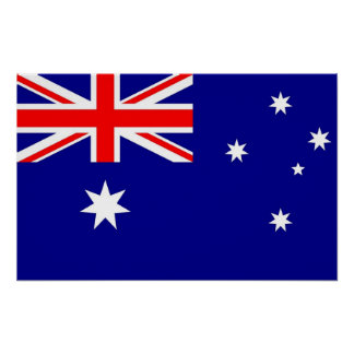 Poster with Flag of Australia