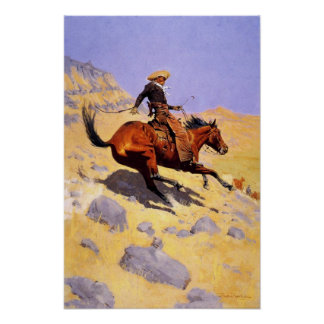 Poster With Frederic Remington Painting