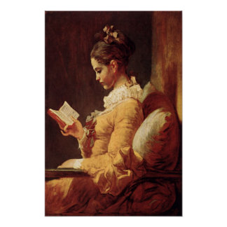 Poster With Jean-Honore Fragonard Painting