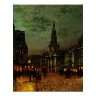 Poster With John Atkins Grimshaw Painting