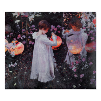Poster With John Singer Sargent Painting