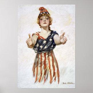 Poster With Original Be Patriot Design
