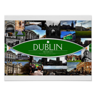 Poster with Scenes from Dublin