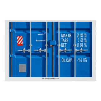 Poster with Transport Container