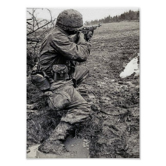 Poster with USA Army in Vietnam