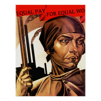 POSTER ~ Women's Rights Equal Pay For Equal wo
