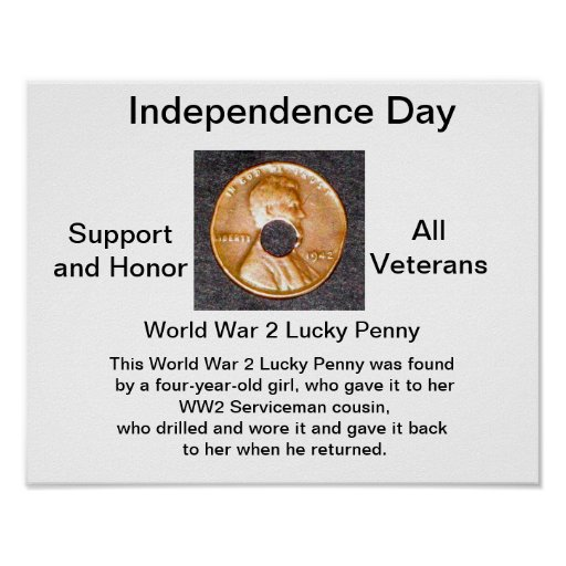 Poster/WW2 Lucky Penny/Support Veterans