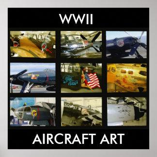 Poster WWII Aircraft Art