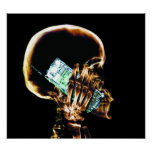 POSTER - X-RAY SKELETON ON PHONE BLK ORIGINAL