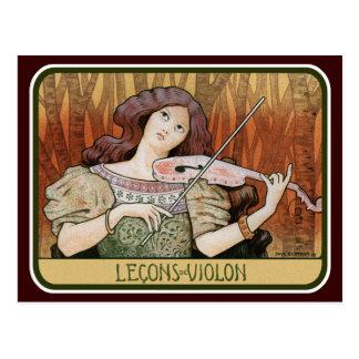 Postercard: Violin Lessons by Paul Berthon Postcard